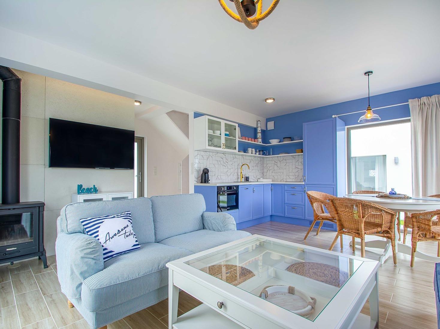 05-Domek nad morzem 5 luksusowy Zatoka Mew dla max 8 osob kuchnia ze zmywarka