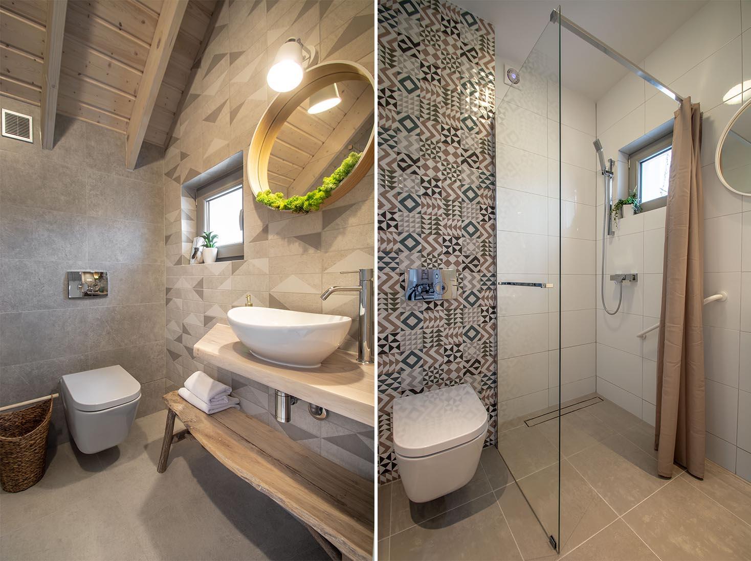 07-Domek 8 mad morzem dla osob niepelnosprawnych Zatoka Mew łazienka dolna z prysznicem i udogodnieniami dla niepelnosprawnych